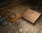Map and Key Cross-Stitch Pattern
