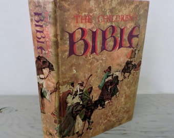 Vintage Bible - The Children's Bible - 1965 - Illustrated Bible - Old Testament - New Testament - Bible Study
