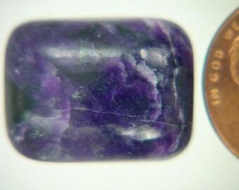 Genuine African Sugilite 18.4 ct Rectangle Cabochon Lapidary Gemstone 9974K