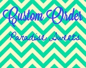 CUSTOM LISTING for MELISSA - Custom Sugar Cookies