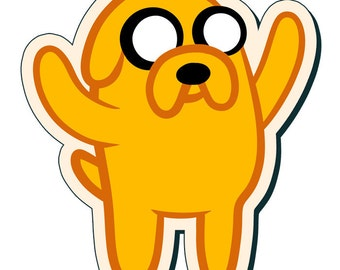Jake the Dog - Adventure Time Sticker (3 Inch)