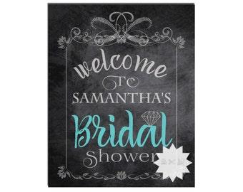 Chalkboard Printable Bridal Shower Sign-Door Sign-Welcome Bridal Shower Sign-Wedding Shower Sign-DIGITAL DOWNLOAD