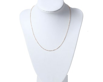 """3 pcs THIN Dainty 18K Gold Plated Chains 16"""" Premade with Lobster Clasps (GCN2808)"""