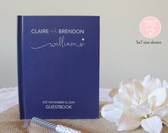 Wedding Guest Book, Wedding Guestbook, Custom Guest Book Personalized, Custom design wedding gift keepsake -Style 500