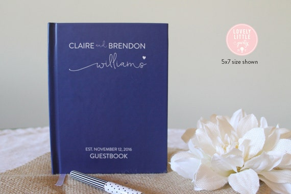 Wedding Guest Book, Wedding Guestbook, Custom Guest Book Personalized, Custom design wedding gift keepsake -Style 500