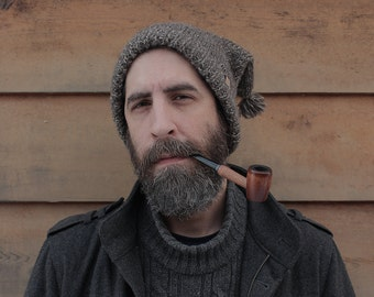 The Crean Hat - Vintage style Polar Explorer crewman's hat in marled brown wool