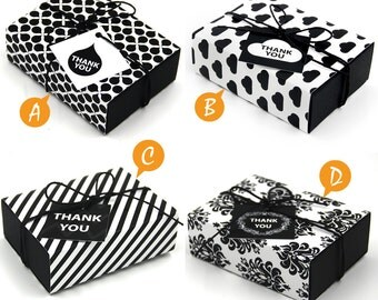 Package of 50 Fancy Gift Box , Vintage Pattern, Favor, Gift, Party