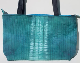 Shibori Quilted Tote Bag