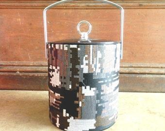 60's TIKI ICE BUCKET - Geometric / Atomic Style / Luau / Party / Bar Decor