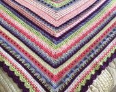 Crochet Cotton Stitch Sampler Blanket
