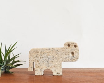 Flli Mannelli Travertine Tiger Figurine Italy Raymor