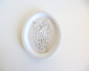 Vintage Bennington Pottery Owl Wall Plate David Gil