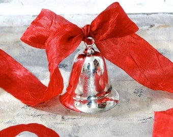 Kirk Stieff 1984 Silverplate Musical Bell Christmas - Inscribed and Original Box
