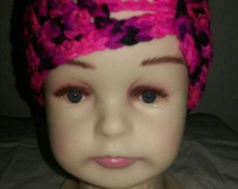 3-6 Months Baby Girls - Flapper Style - Hot Pink Cap