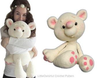 122 Crochet Pattern - Huggable bear Shunya - Amigurumi soft toy PDF file by Pertseva Etsy