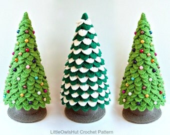 085 Crochet Pattern Christmas Tree New Year Amigurumi - by Zabelina Etsy