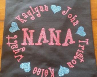 Nana Shirt With Grands Name