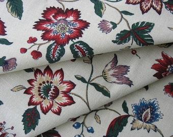 Waverly Fabric Cotton Upholstery Fabric Vintage Cotton Fabric Vintage Floral Fabric Remnant Fraser - 1 Yard - UF1235