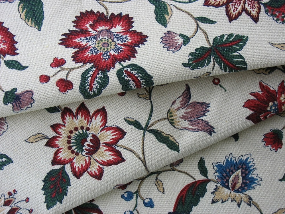 Waverly Fabric Cotton Upholstery Fabric Vintage Cotton Fabric