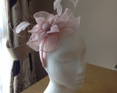Pale Pink Fascinator and Feather Fascinator on a hairband, races, weddings, special occasions, Ascot, Mother of the Bride