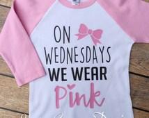 On Wednesdays We Wear Pink Raglan | Trendy Raglan