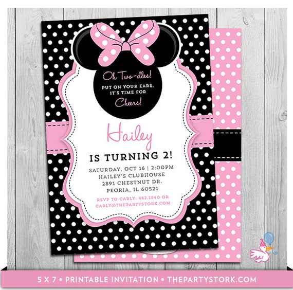 Minnie mouse birthday invitations printable oh twodles party il570xn filmwisefo
