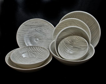 Wood Grain bowls and dishes!