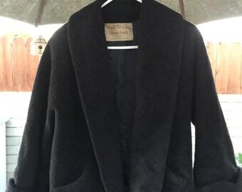 Vintage Ladies 100% Virgin Wool coat Marshall Field & Co