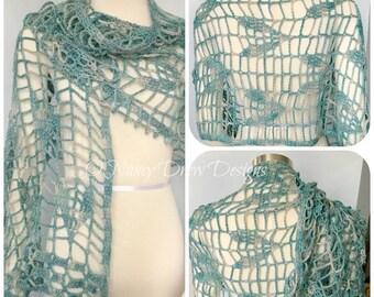 Pattern only - Firefly Frenzy Shawl pattern crochet lace pattern rectangle stole