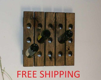 Riddling Wine Rack Free Shipping Distressed Wood Wall Wine Rack Wedding Gift