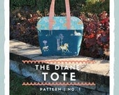 The Diane Tote - Bag pattern, instant download, pdf pattern, tote, handbag, purse, sewing, patterns, tote bag, bag pattern