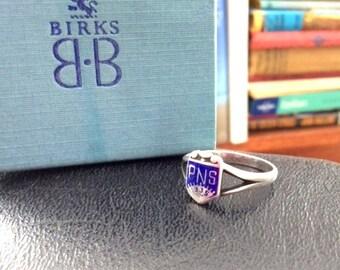 1935 BIRKS Ring Sterling Silver Practical Nurse