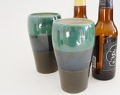 IN STOCK, Set of Ceramic Pint Glasses, Stoneware Beer Stein Glass, Set of Pottery Tumblers, Gift Set of Pint Tumblers