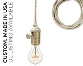 Light Sweater Cord Bare Bulb Pendant Light