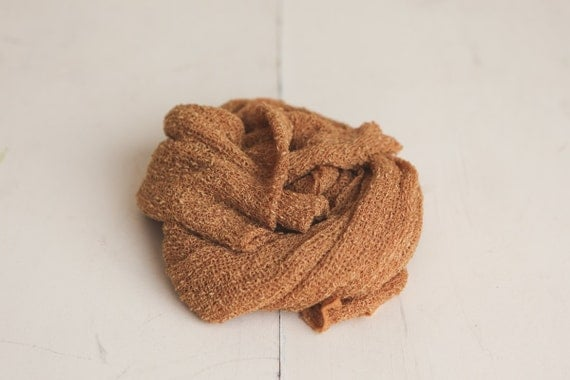 SALE - Gold Newborn Stretch Knit Baby Wrap - Photography Prop - CLEARANCE