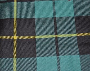 Wallace Tartan Fabric. 100% 10oz Pure New Wool.  Remnant Piece. Wallace Hunting Ancient available