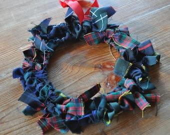 Tartan Wreath Black Watch, Scottish National, Cameron and other tartan. Scottish Heritage Gift, Scottish Christmas Gift