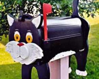 Cat mailboxes - Black Cat mailbox