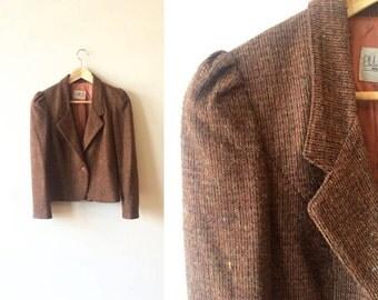 Mauve Taupe Blazer and Skirt Suit Womens Size Medium 9