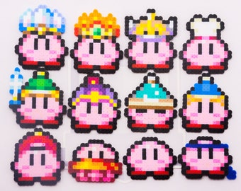 Mini Kirby Bead Sprites! || Gaming, Accessory, Wearable, Gift