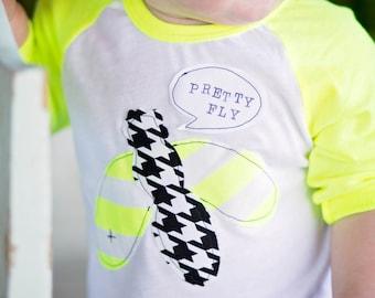"Swanky Shank Gender Neutral Baseball Tee ""Pretty Fly"""