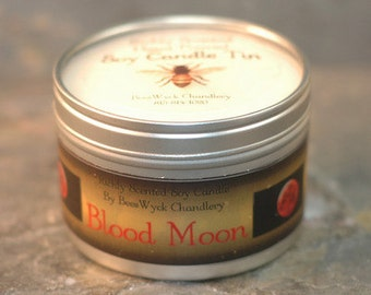 Soy Candle Tin - 8 oz in Blood Moon Scent