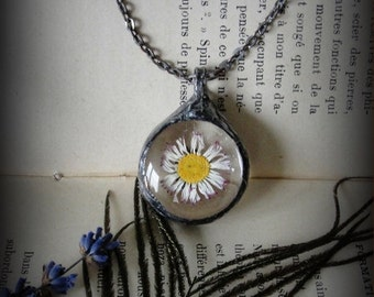 Necklace,  daisy flower, Pendant,