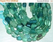 20%off. Natural Fluorite Step cut Faceted Nuggets-Faceted Tumble Size 10x17 to 10x15mm