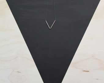 Inverted Triangle Copper Necklace