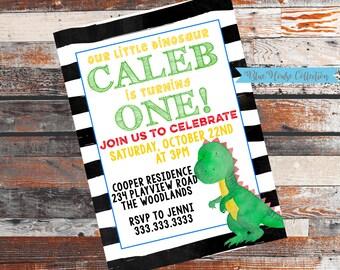 Dinosaur Party. Dinosaur Birthday Party. Dinosaur Birthday. Dinosaur first birthday. Any Age Dinosaur Party. Birthday party invitation.