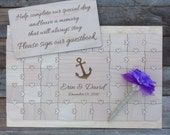 30 pcs Beach Wedding Guest Book Puzzle Custom Puzzle with Heart Tabs