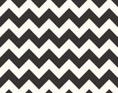 Black and White chevron - Riley Blake Designer Fabric 1 yard