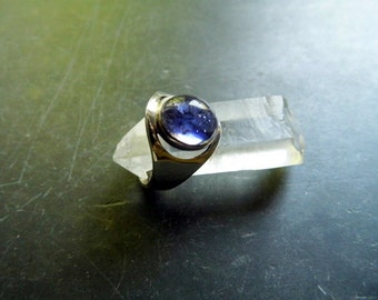 Ring, sterling silver, Iolithe, blue, jewelry, women, open