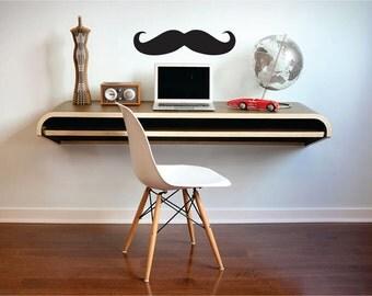 Black Mustache Wall Decal, Mustache Wall Sticker, Office Decor, Wall Decal, Mustache Wall Decal